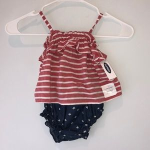 NWT Old Navy 6-12 Mo American Flag 2 Piece Set